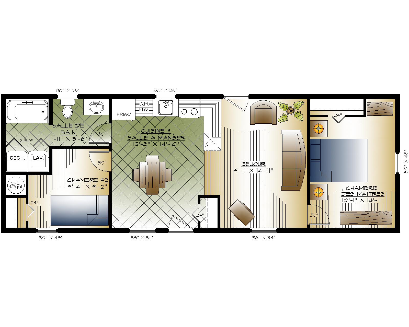 Plan maison mobile for Plan interieur maison
