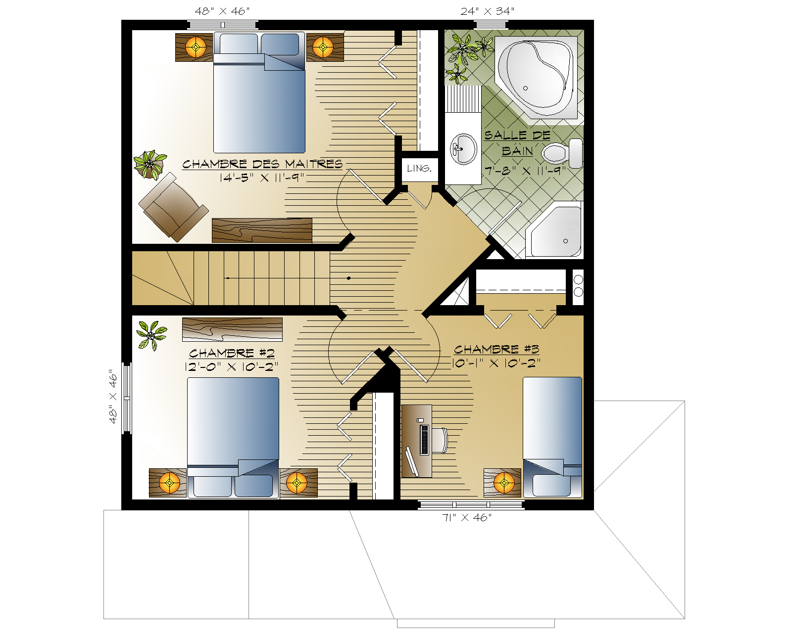 Emeraude habitations mont carleton for Maison emeraude