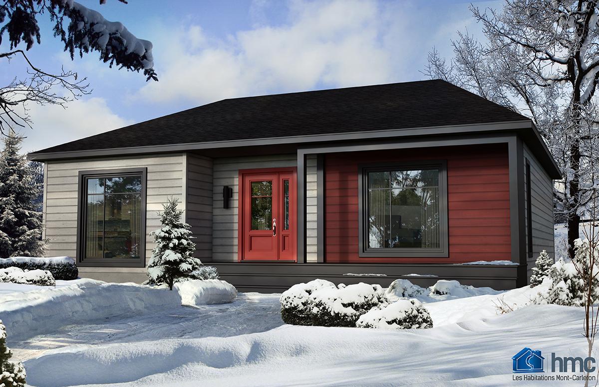 Olivier habitations mont carleton for Mini maison usinee